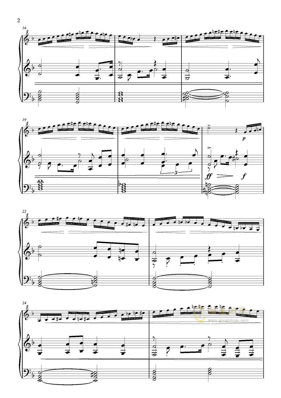 高达逆袭的夏亚钢琴谱 第2页