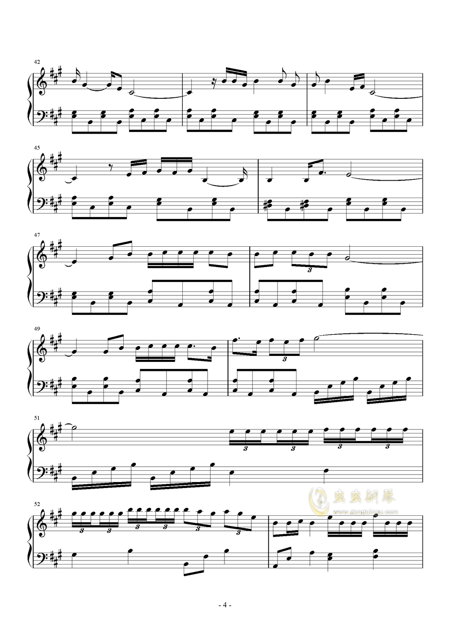 春风十里钢琴谱 第4页