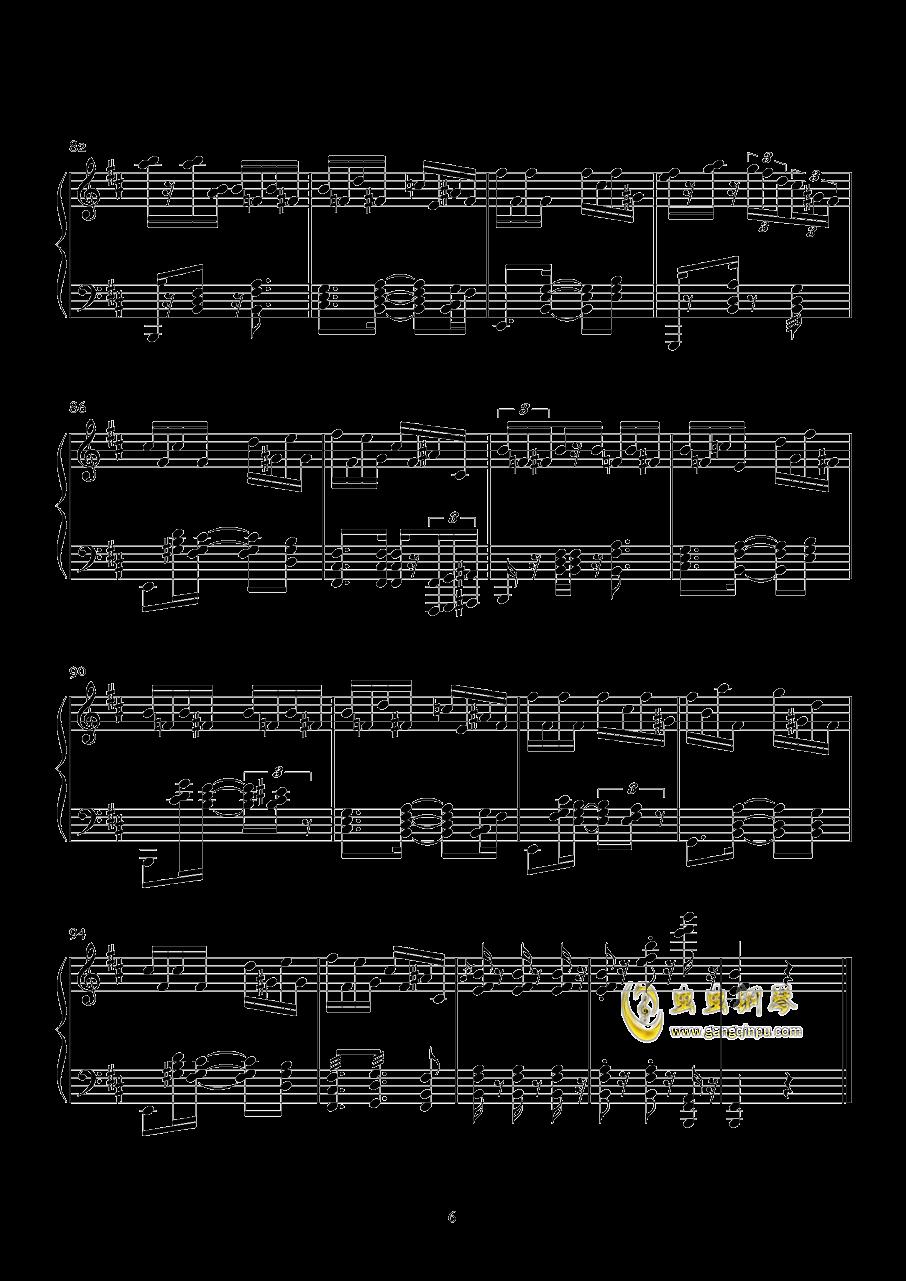 1S钢琴谱 第6页