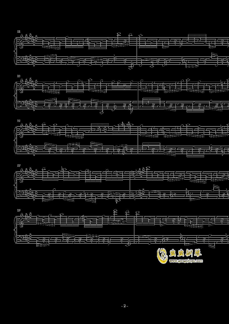简单地练习曲钢琴谱 第2页