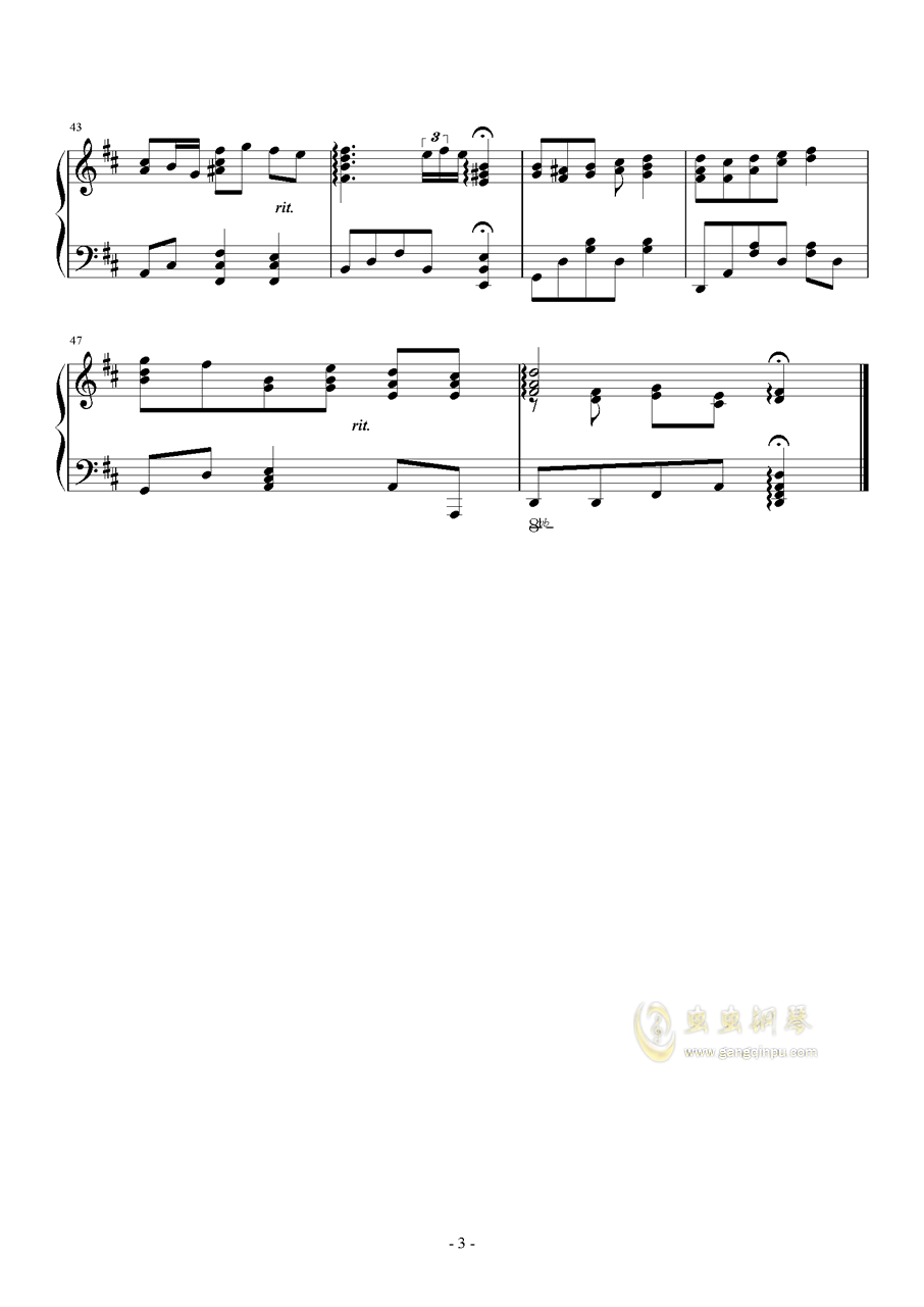 迷途的小鹿钢琴谱 第3页
