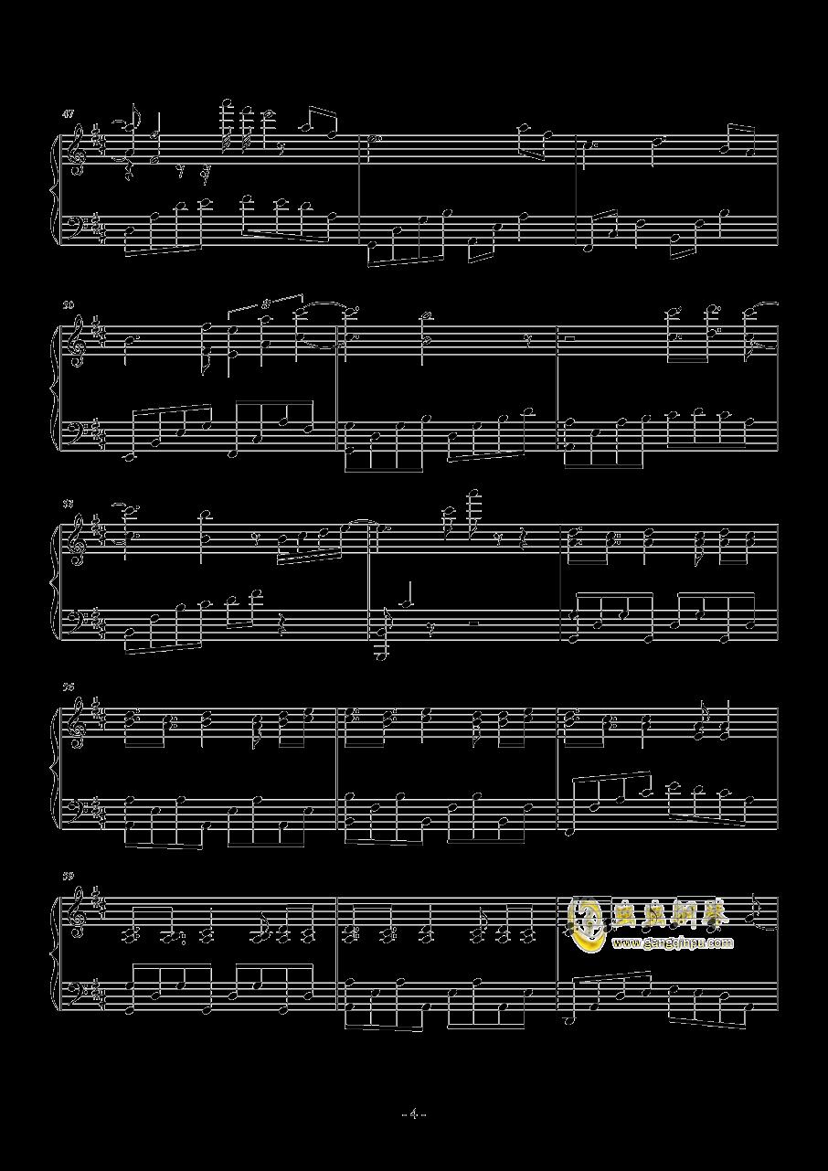 奇迹暖暖钢琴谱 第4页