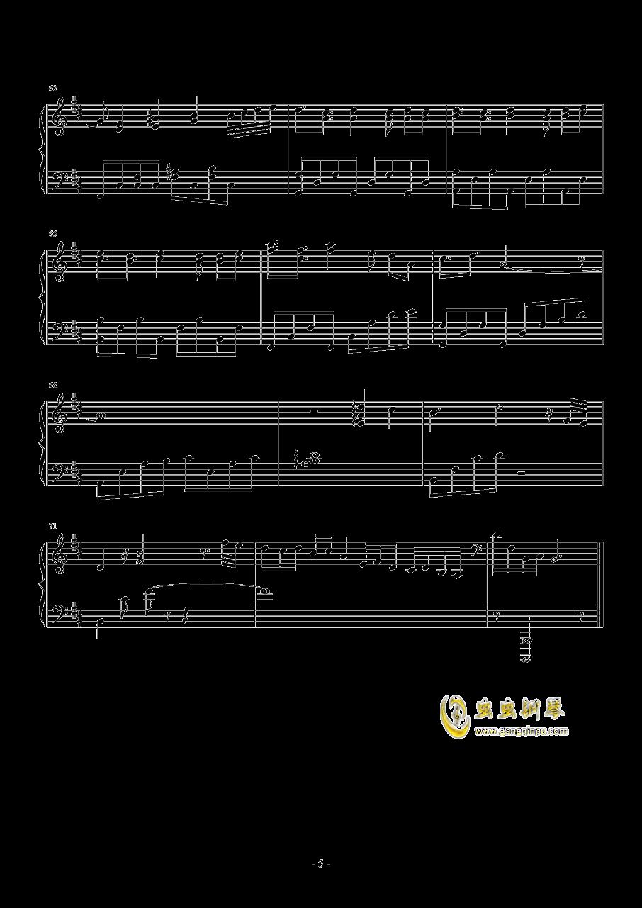 奇迹暖暖钢琴谱 第5页