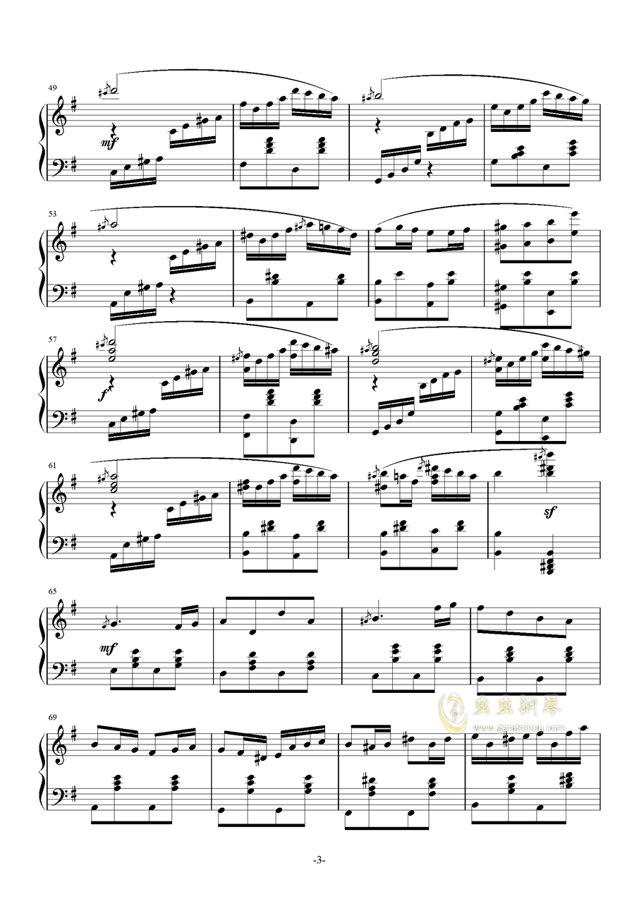 Ineffabilis钢琴谱 第3页