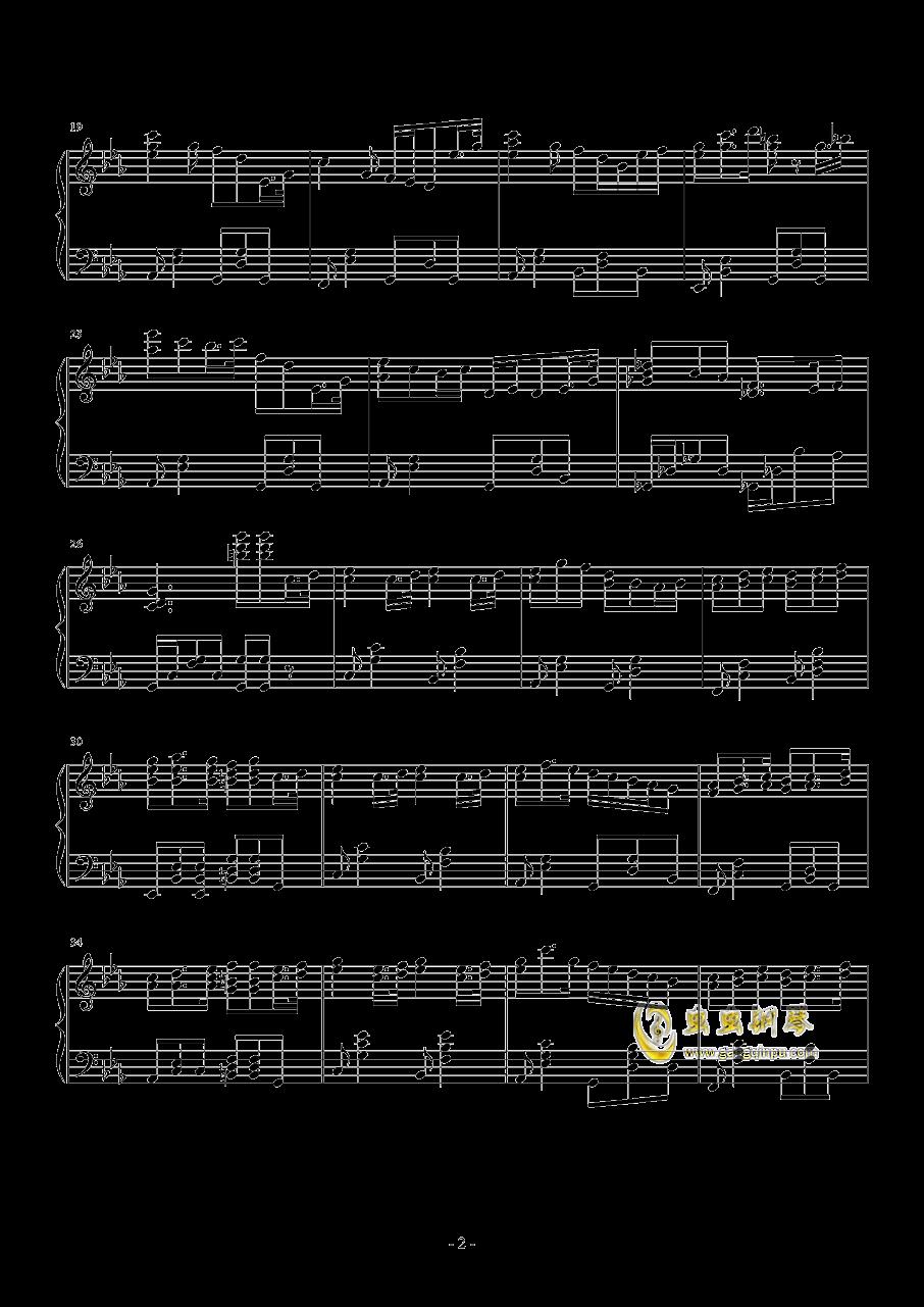 �U�L天的海潮钢琴谱 第2页