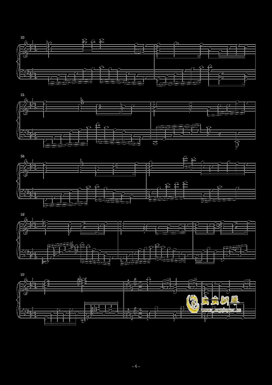 �U�L天的海潮钢琴谱 第4页