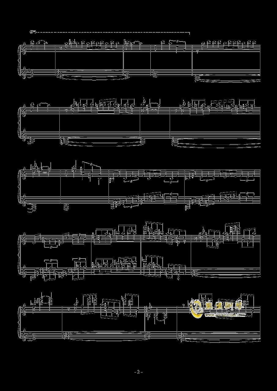 羽钢琴谱 第2页