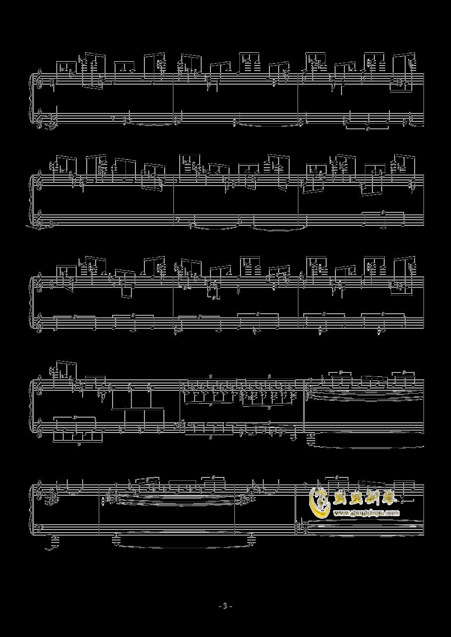 羽钢琴谱 第3页