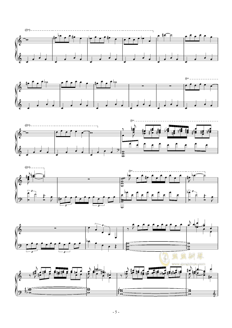 羽钢琴谱 第5页