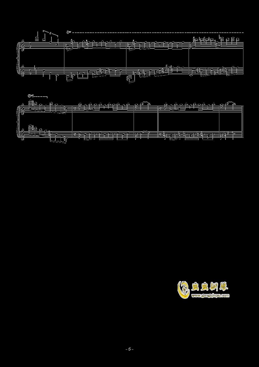 羽钢琴谱 第6页