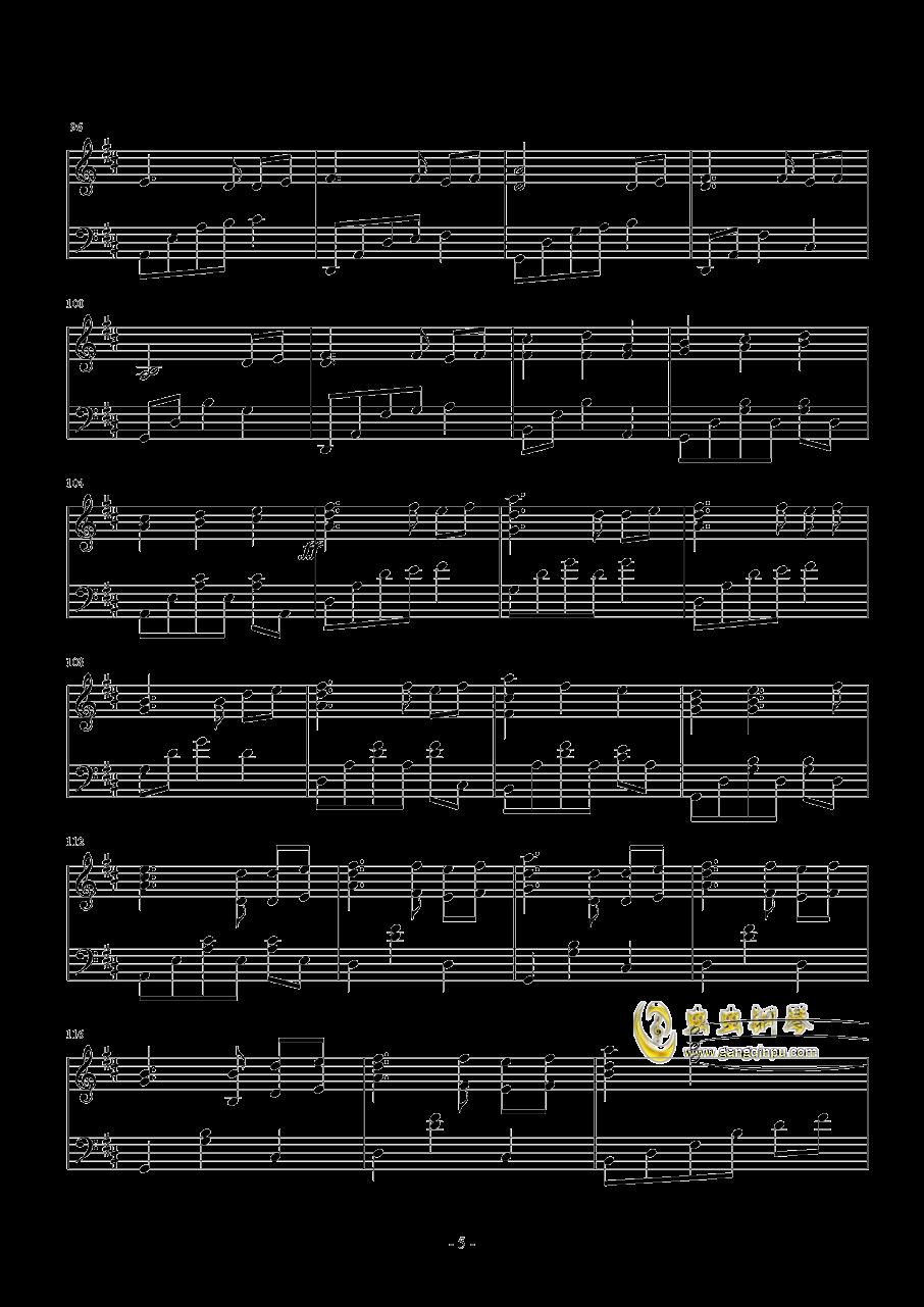 �l思钢琴谱 第5页