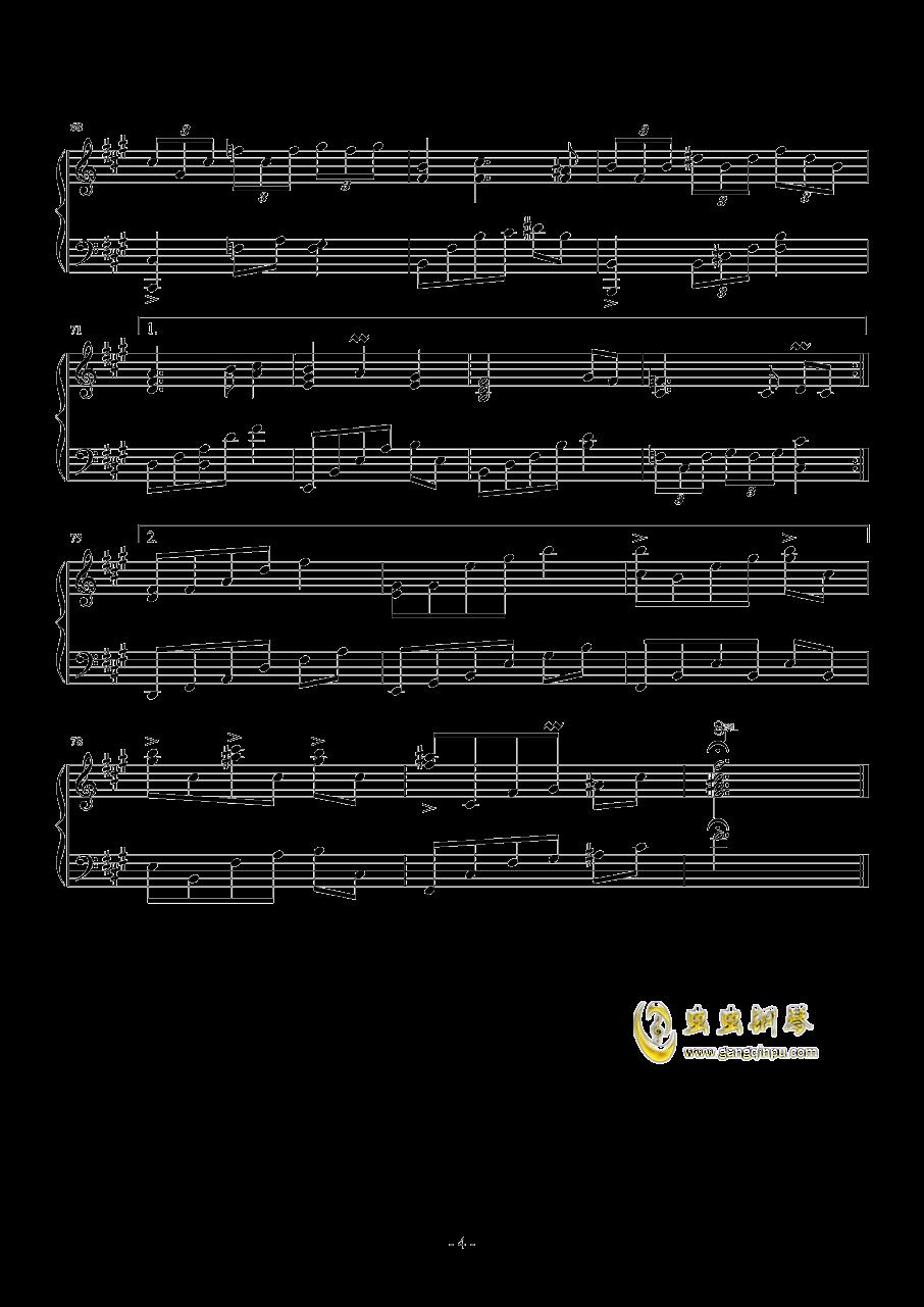 ��C的暗黑物�Z钢琴谱 第4页