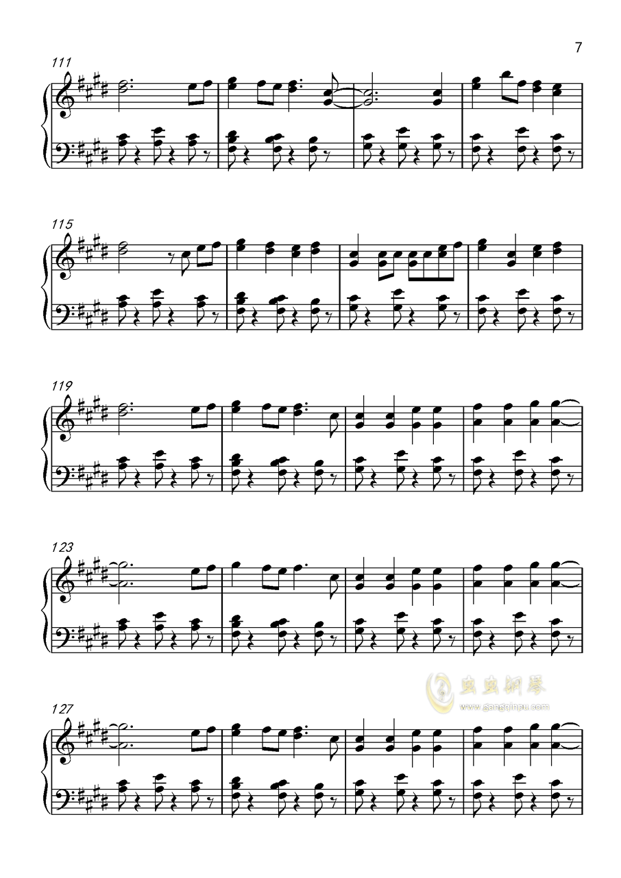 Shape Of You钢琴谱 第7页
