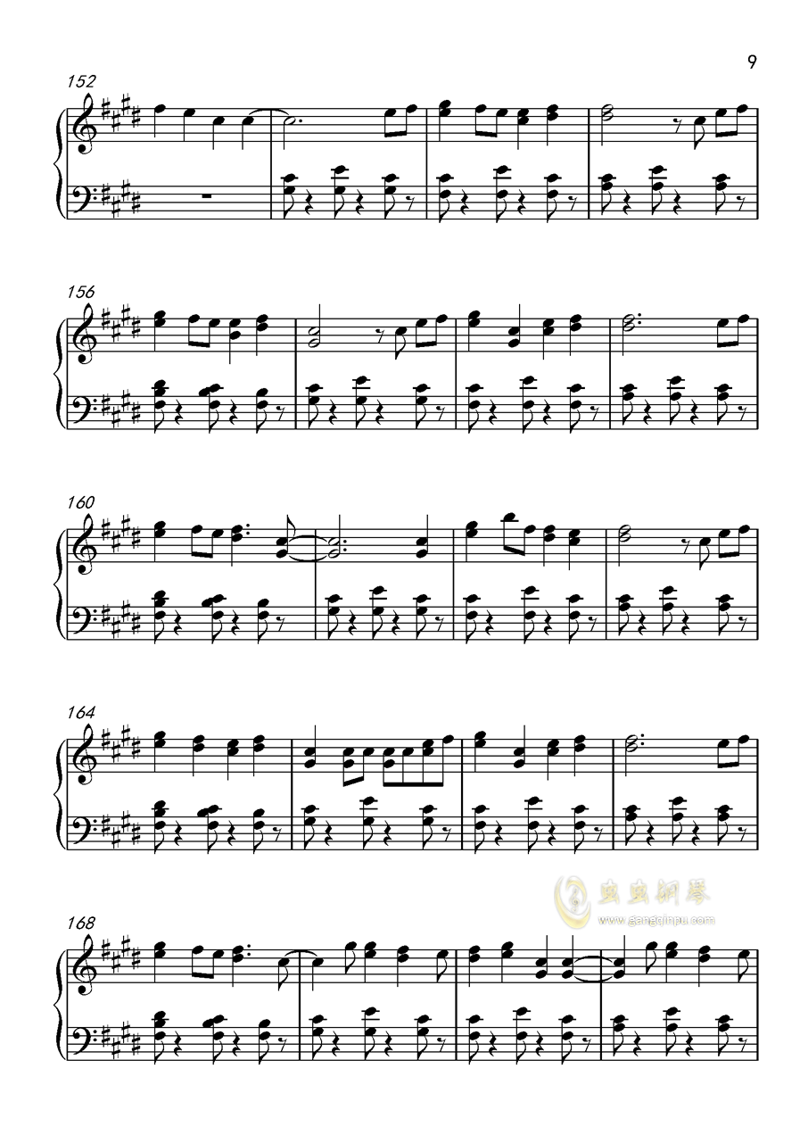 Shape Of You钢琴谱 第9页