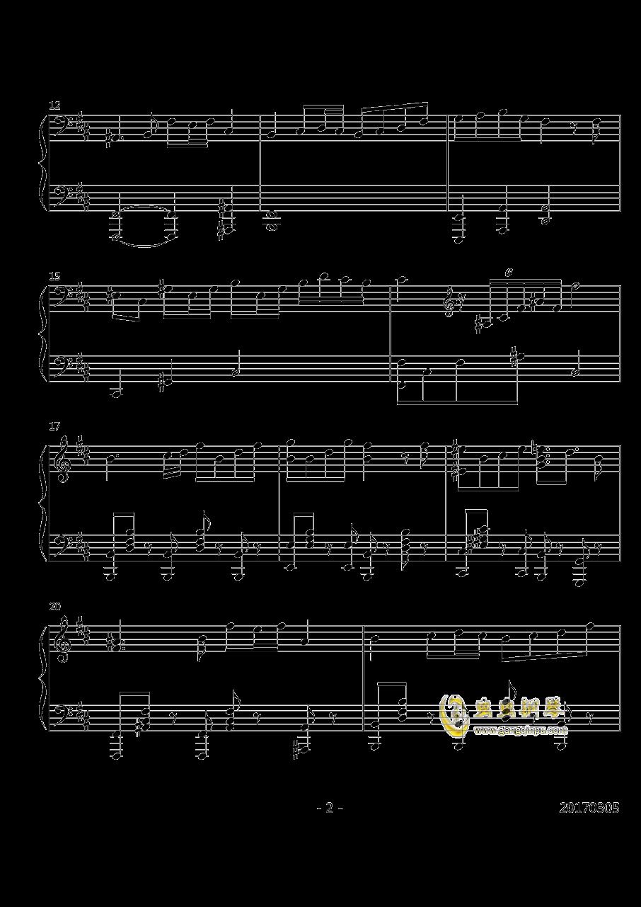 3rd eye钢琴谱 第2页