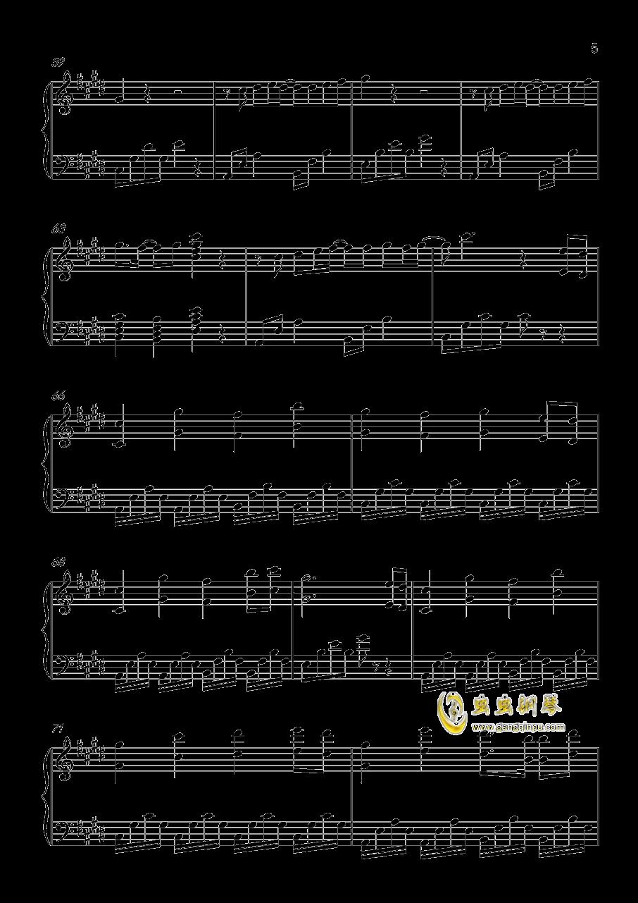 奇迹暖暖同人歌钢琴谱 第5页