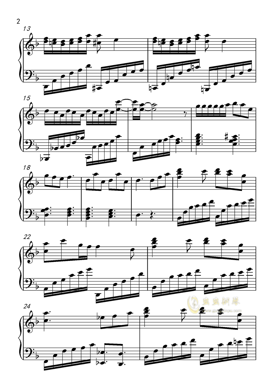 动物世界钢琴谱 第2页