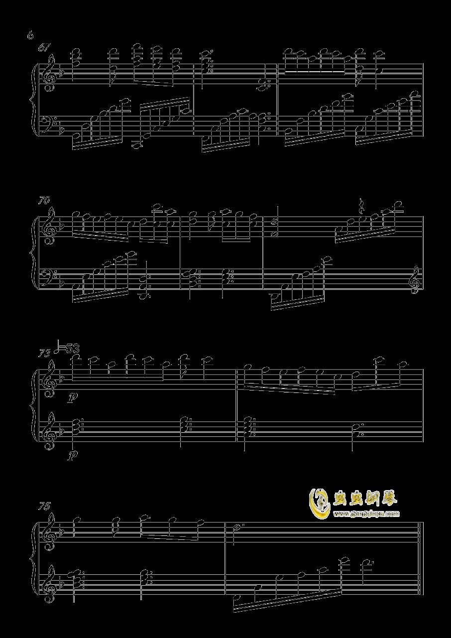 动物世界钢琴谱 第6页