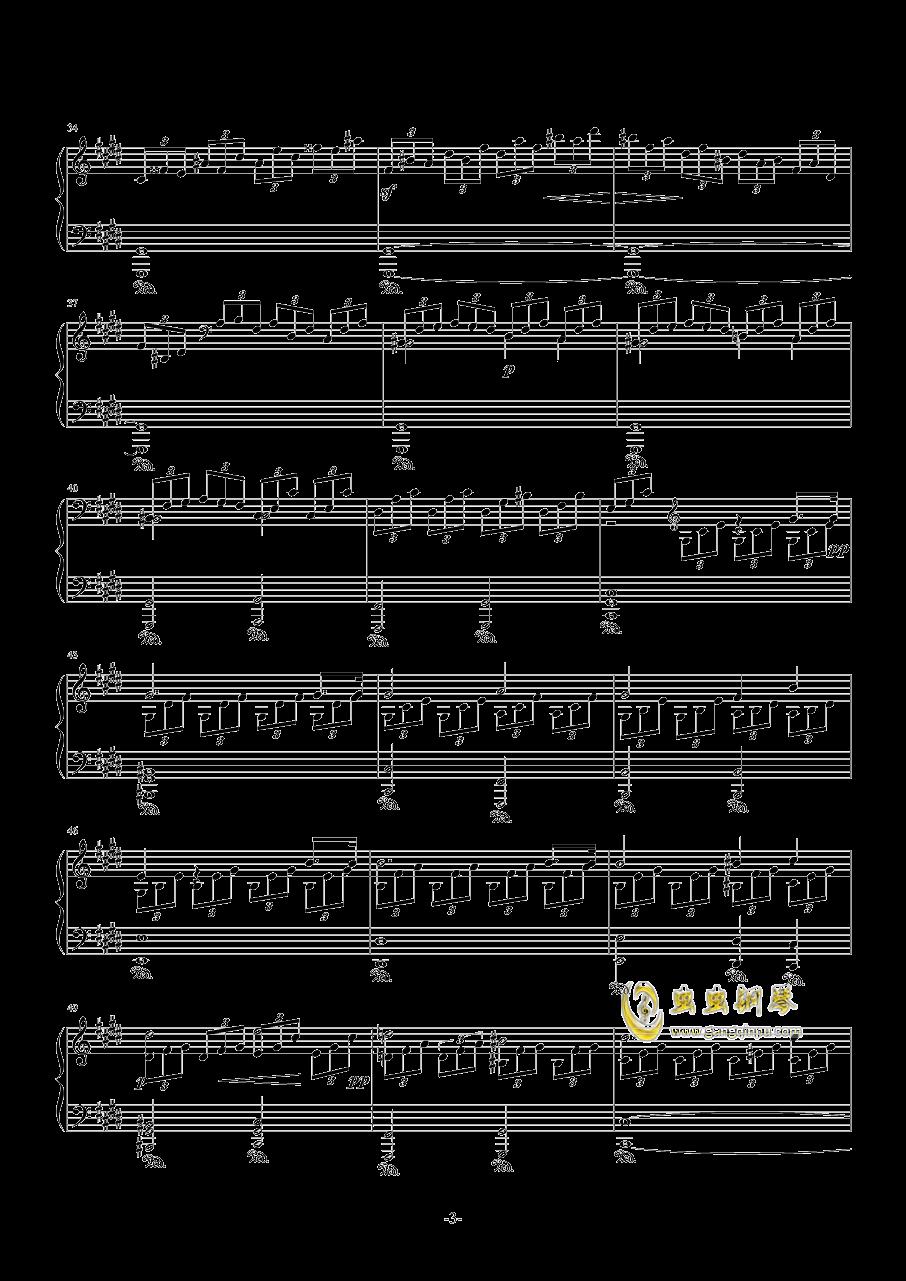 月光奏鸣曲钢琴谱 第3页
