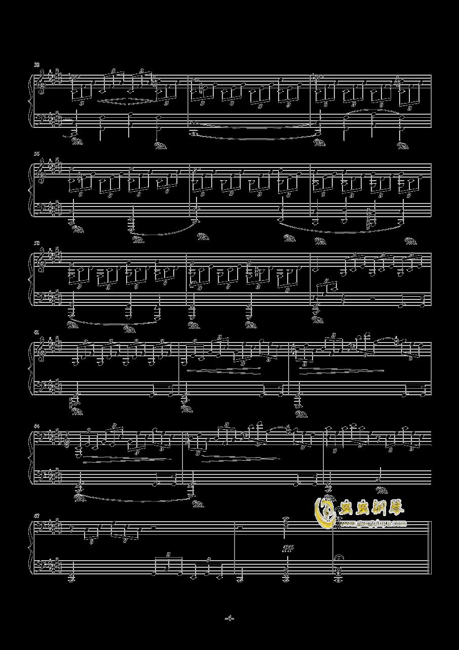月光奏鸣曲钢琴谱 第4页