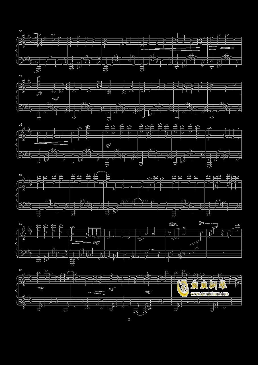 晴空逐梦钢琴谱 第2页