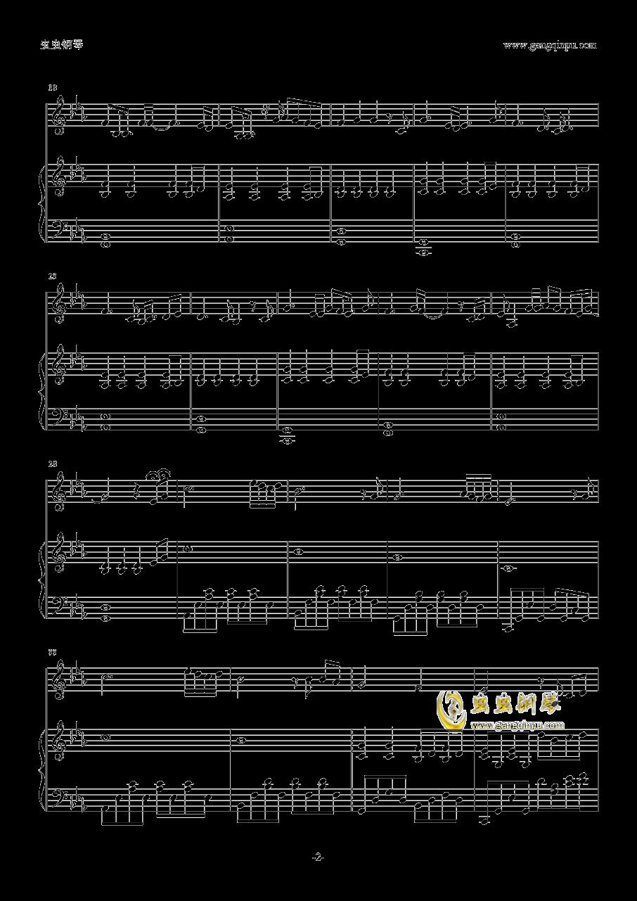 无脚鸟钢琴谱 第2页