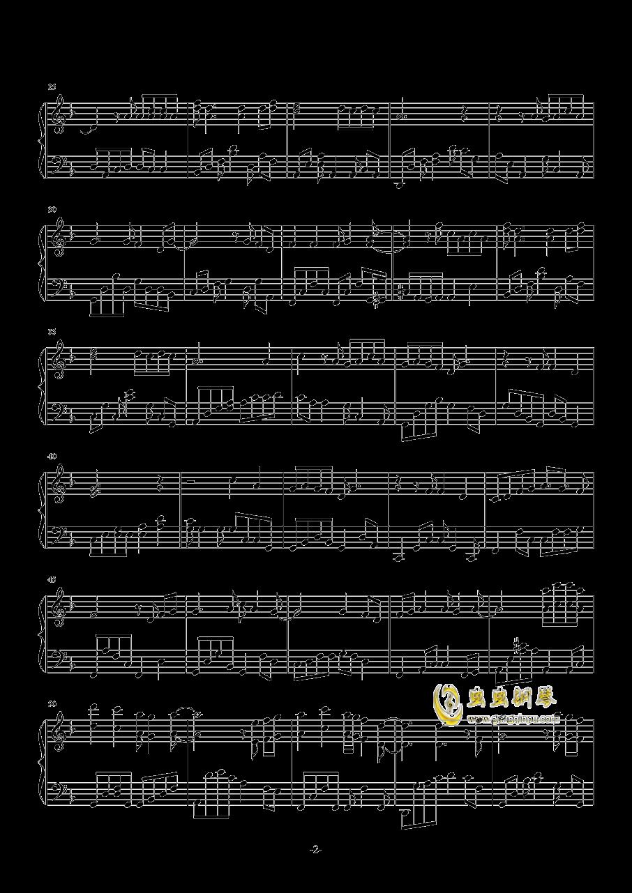 往事欲如何钢琴谱 第2页