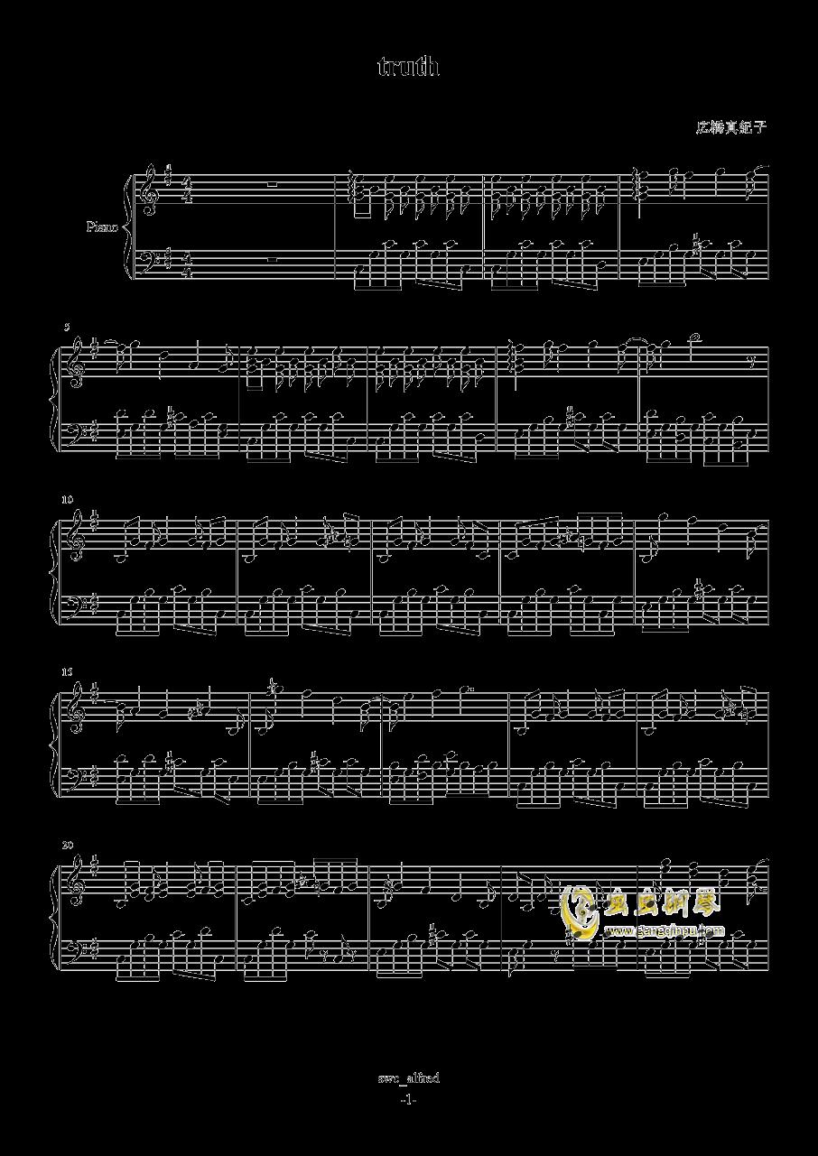 Truth钢琴谱 第1页