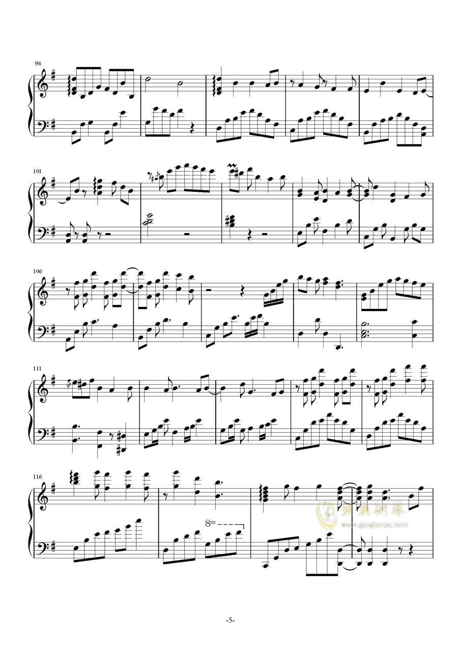 Truth钢琴谱 第5页
