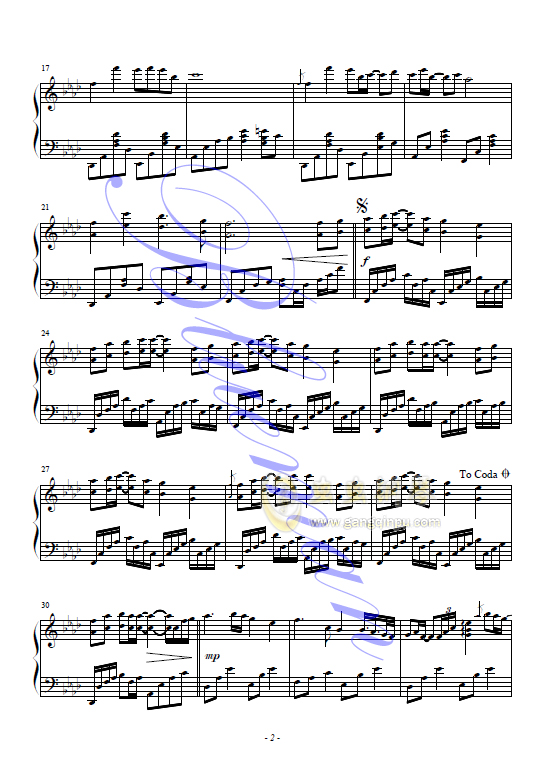 钢琴谱查询 Piano Sheet Music Search -无尽的爱 神话,无尽的爱 神