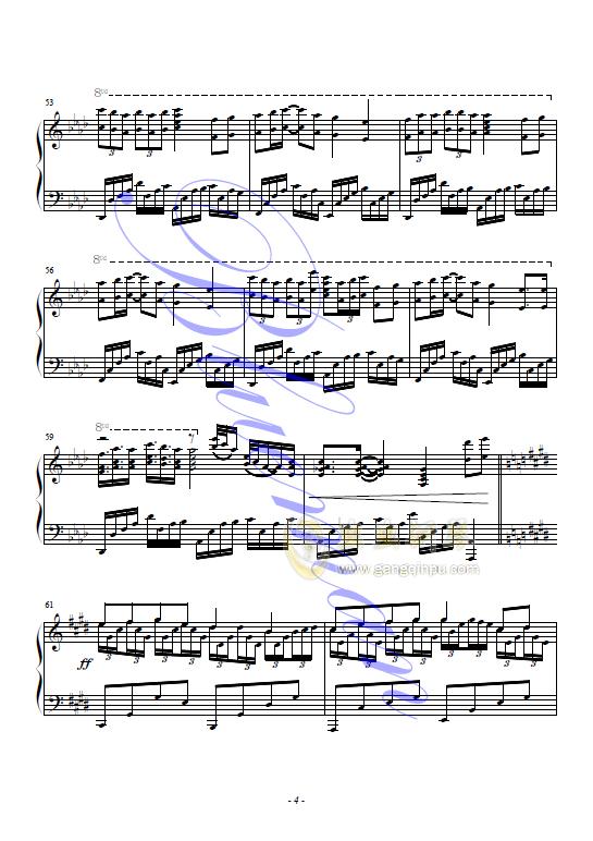 无尽的爱 钢琴谱 第4页