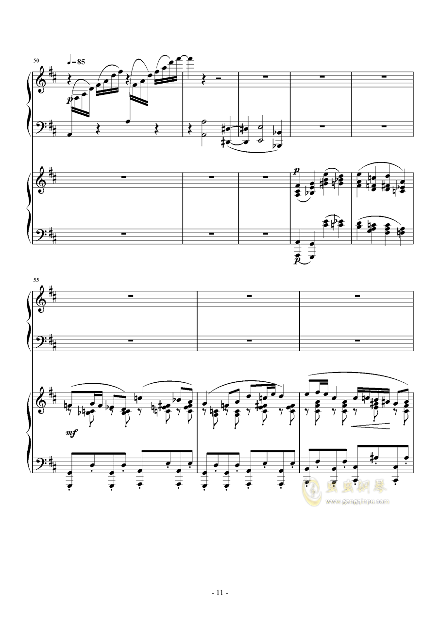 小温狂想曲 2.14钢琴谱 第11页
