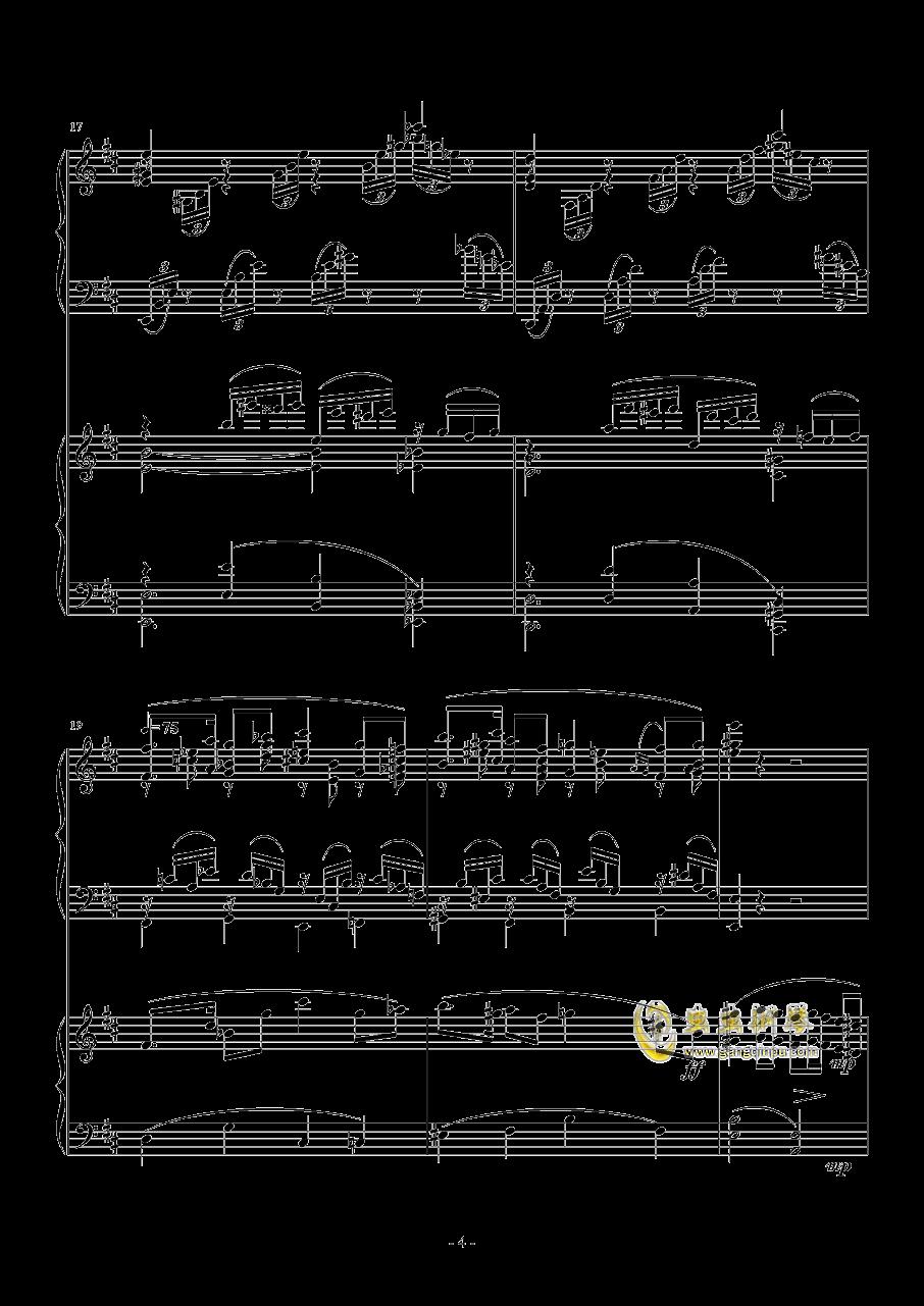小温狂想曲 2.14钢琴谱 第4页