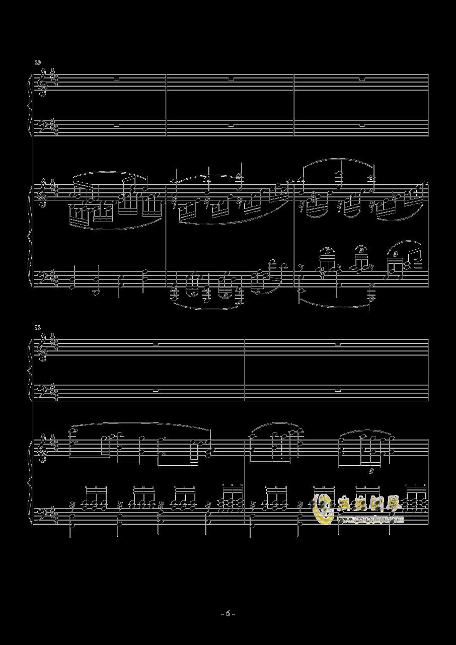 小温狂想曲 2.14钢琴谱 第6页