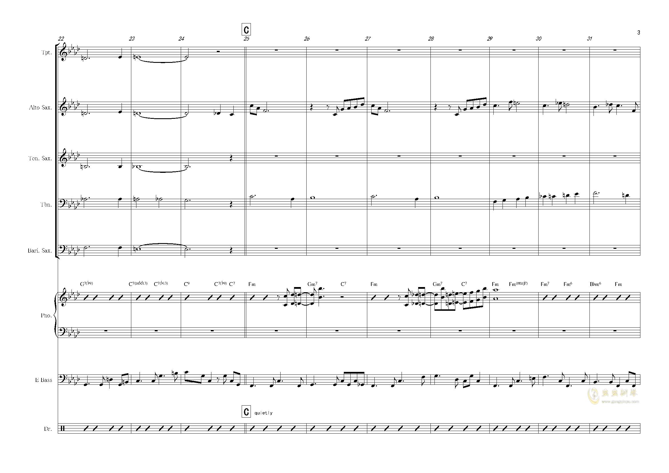 nature boy钢琴谱 第3页