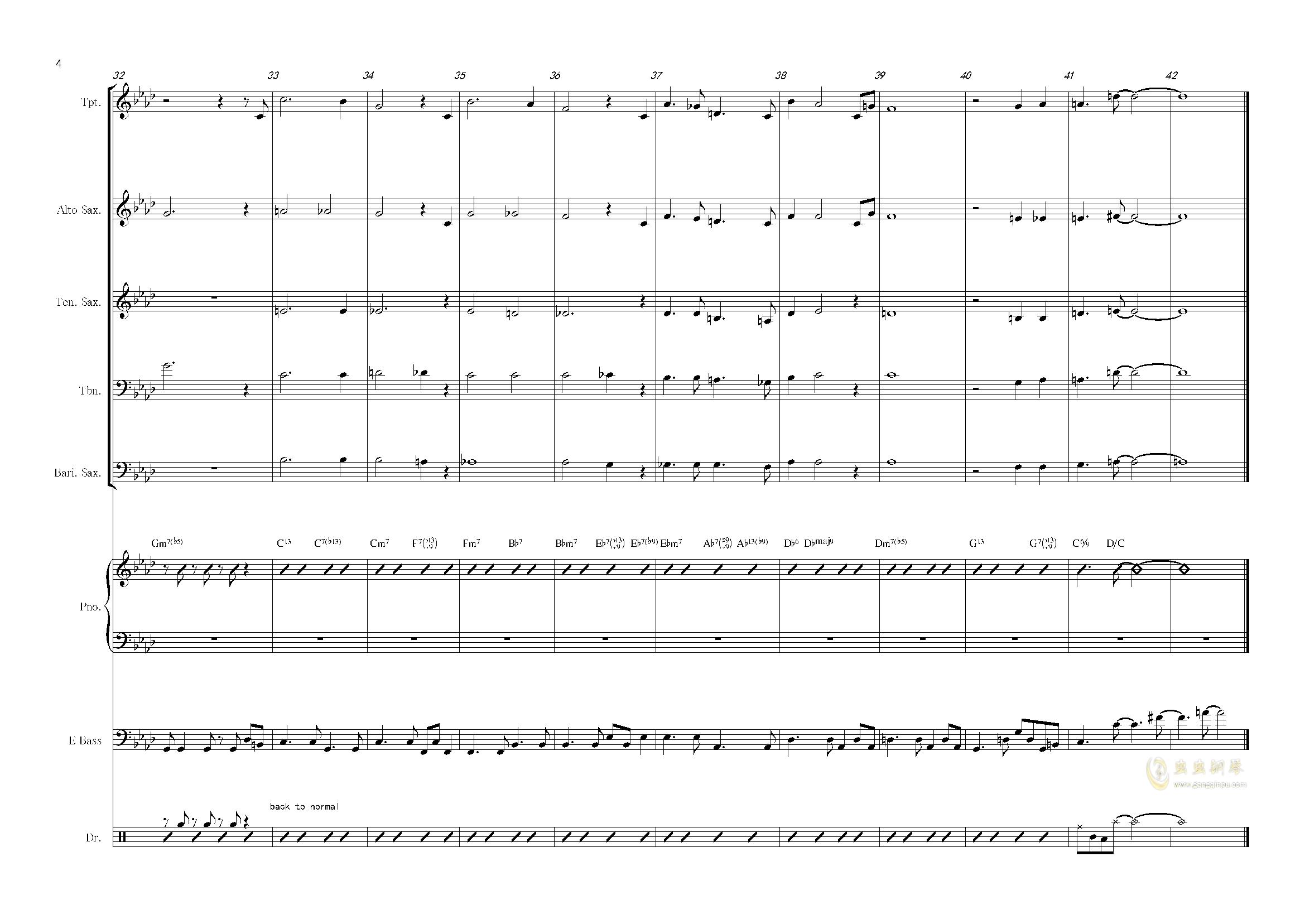 nature boy钢琴谱 第4页