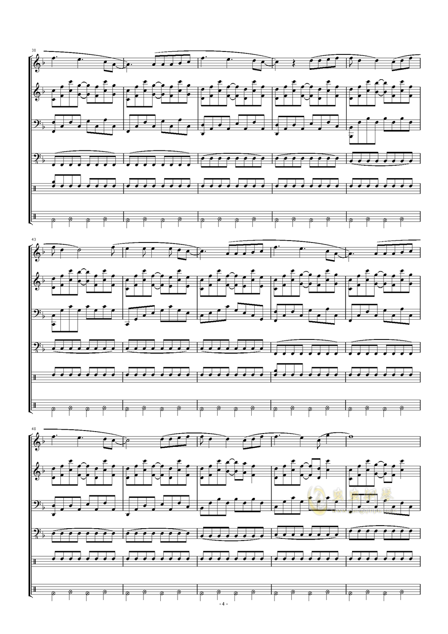 五月天-星空钢琴谱 第4页