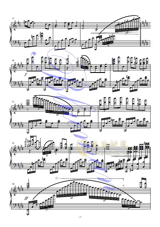 九儿钢琴谱 第2页