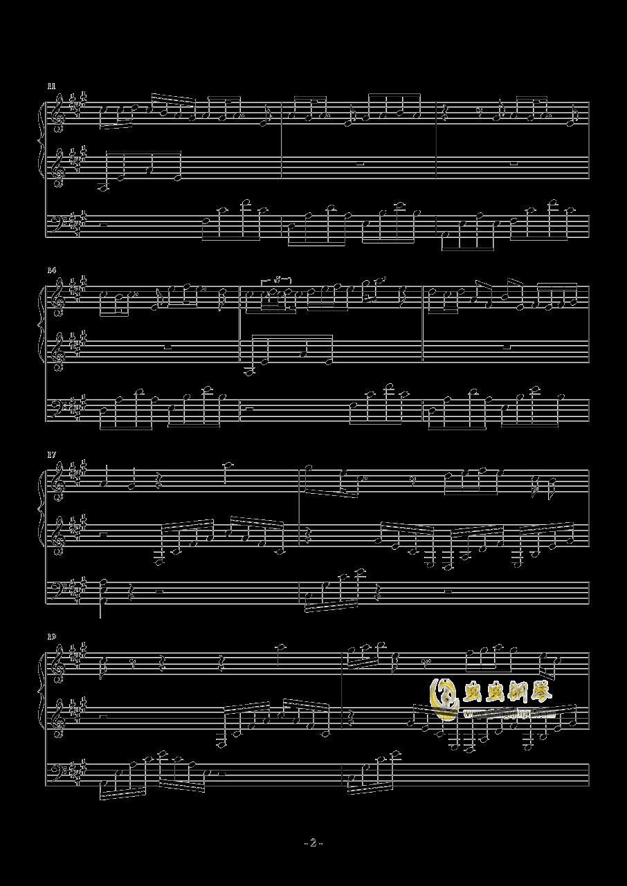 夕月奏钢琴谱 第2页
