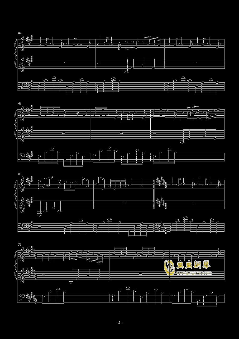 夕月奏钢琴谱 第5页