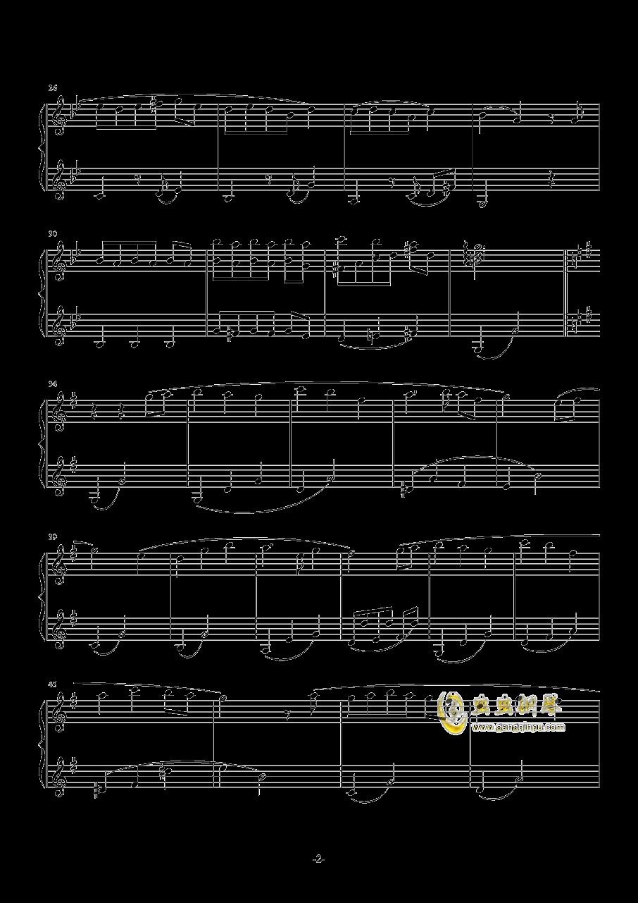 La Valse Vengeance钢琴谱 第2页