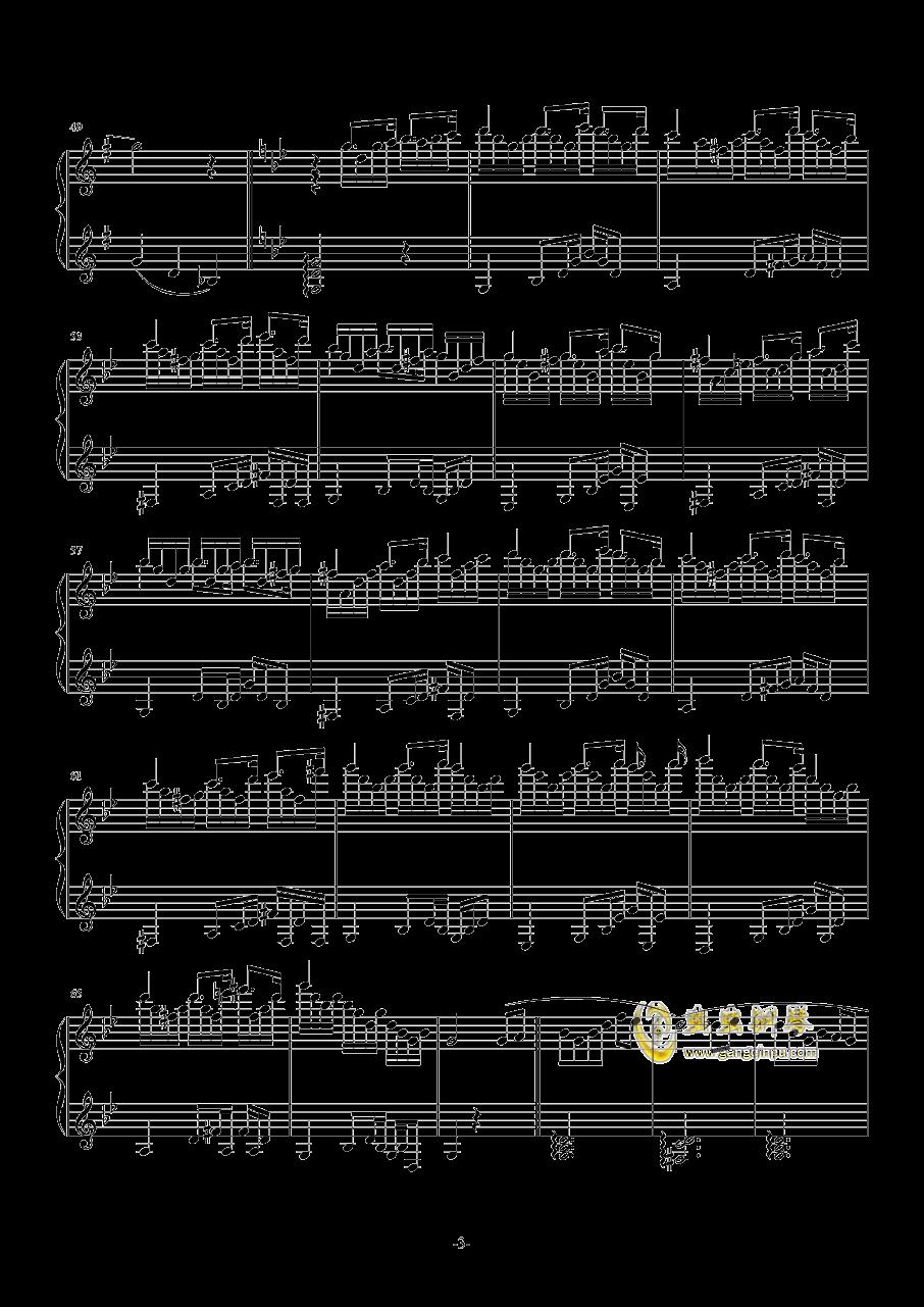 La Valse Vengeance钢琴谱 第3页