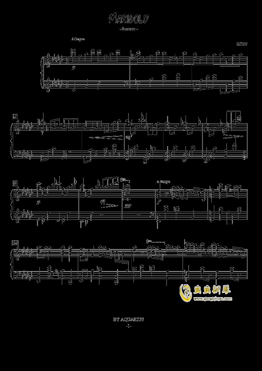 Marigold钢琴谱 第1页