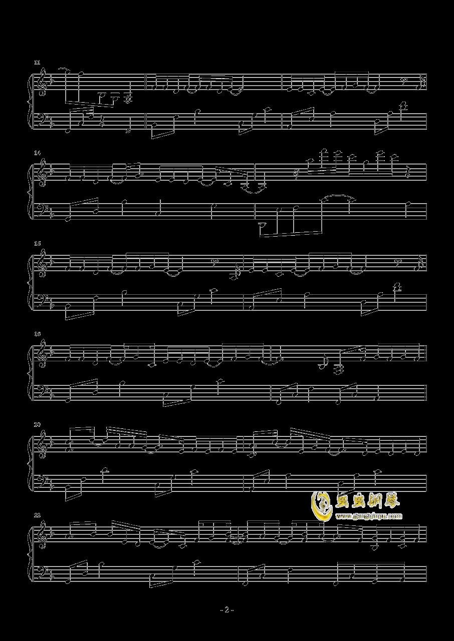 暧昧钢琴谱 第2页