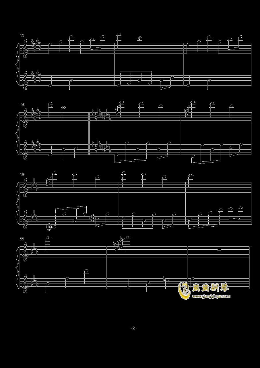 オルゴ�`ル钢琴谱 第2页