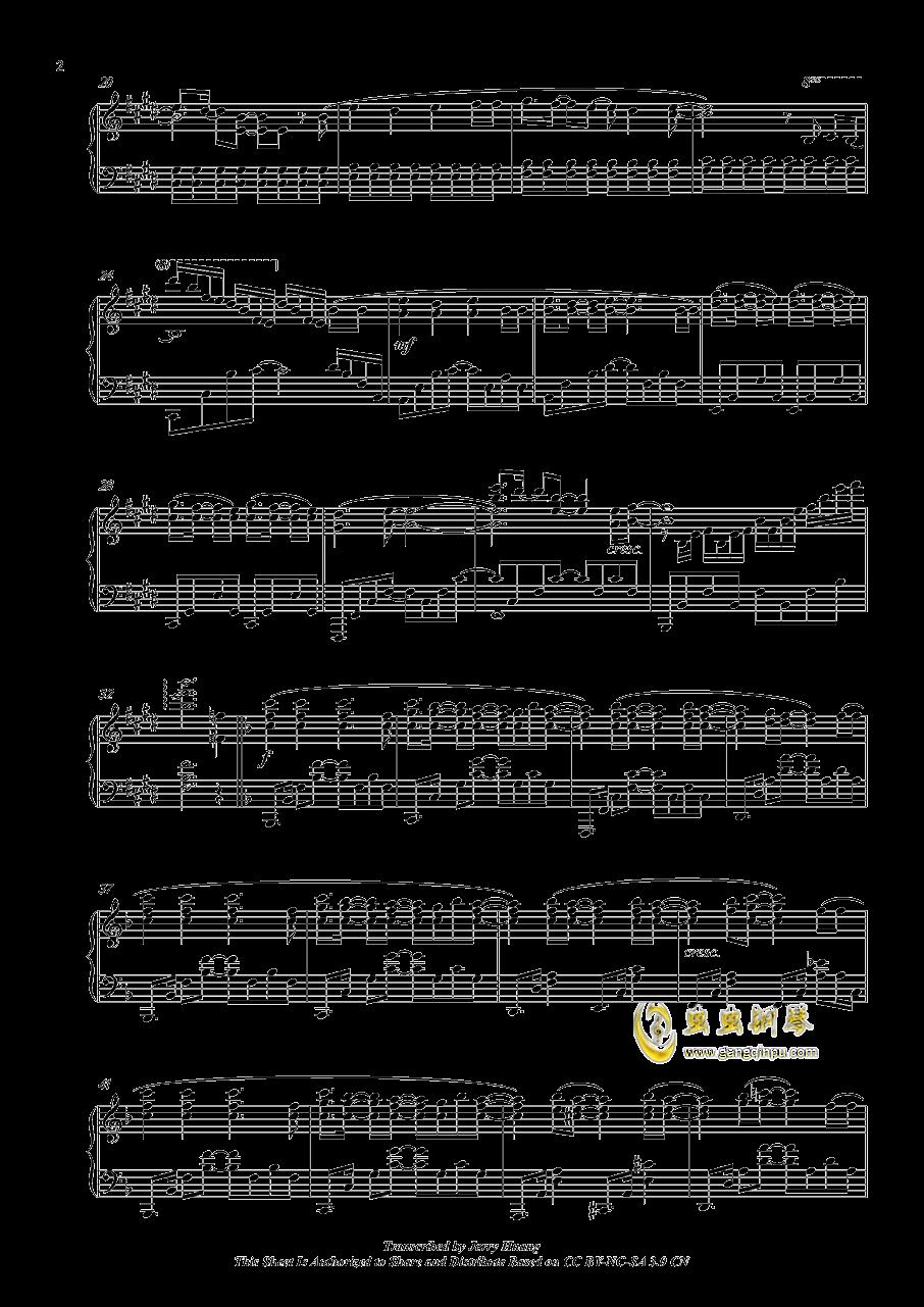 OP イマココ钢琴谱 第2页