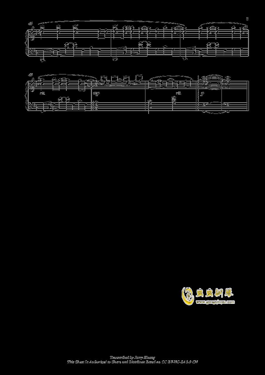 OP イマココ钢琴谱 第3页