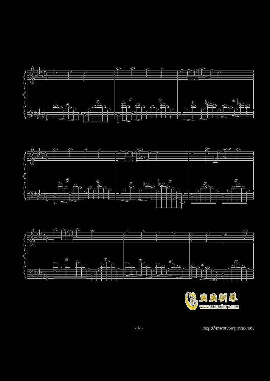 幻想即兴曲钢琴谱 第4页
