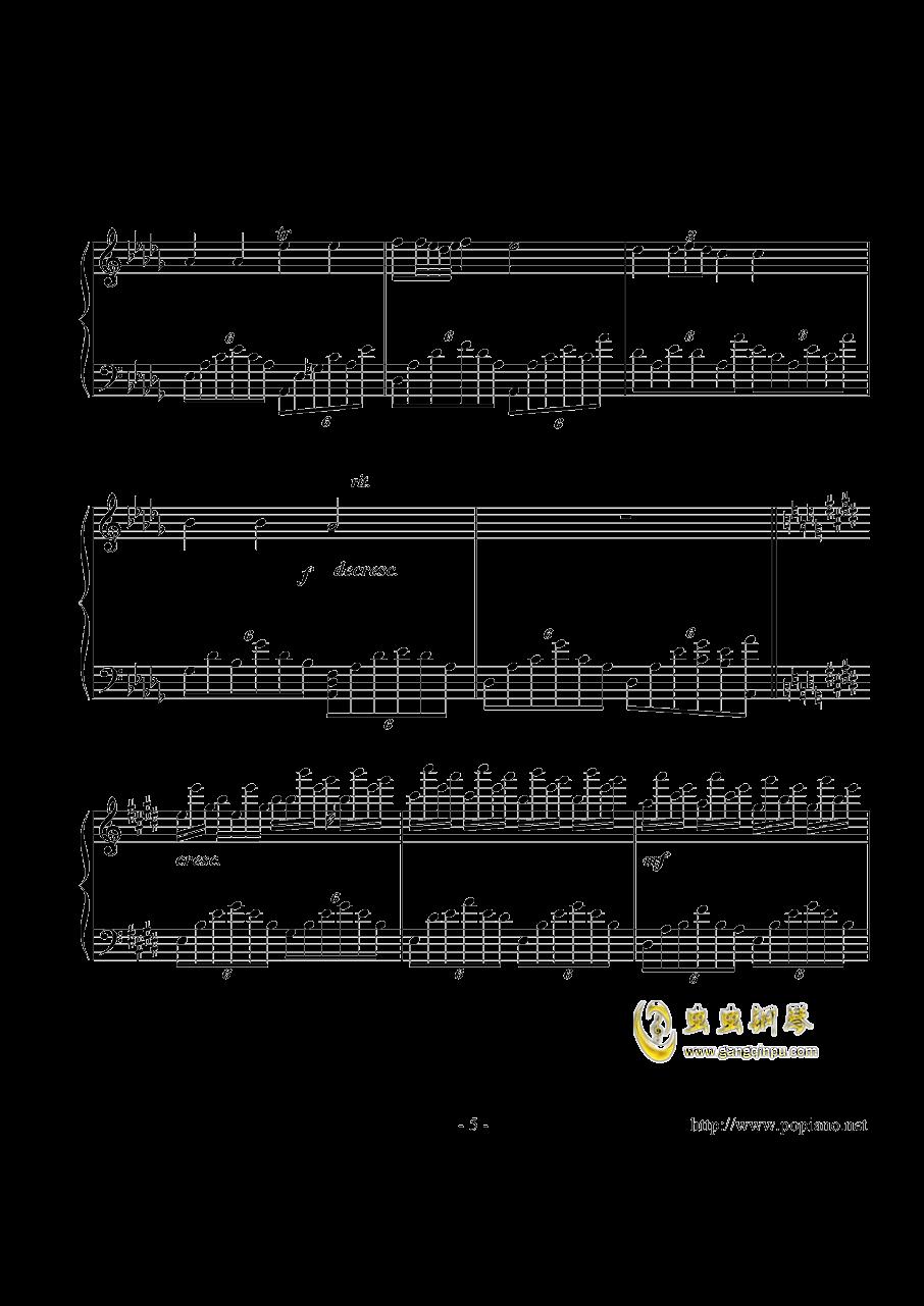幻想即兴曲钢琴谱 第5页