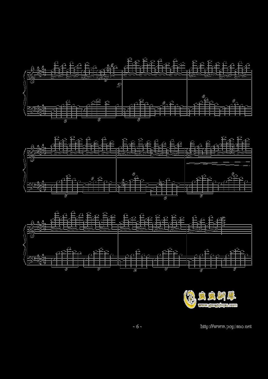 幻想即兴曲钢琴谱 第6页